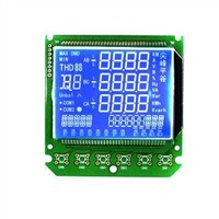 STN Segment Blue LCD Module with white LED Backlight and 3.3V Driving Voltage