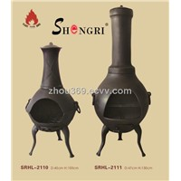 Shengri heavy duty cast iron fire pit chiminea