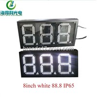 Small size 8inch white IP65 7 segment led 3 digits