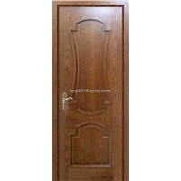 Solid wood composite door with moulding decorates