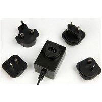 Switching mode power supplies with exchangeable plugs