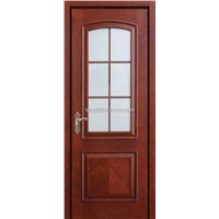 Veneer door composite of solid wood and MDF LBD-618