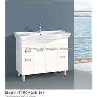 White PVC bathroom vanity,bathroom cabinets T100A