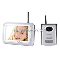 Wireless 2.4GHz Color Video Door Phone Maker, 3 Camera Selectable, 7-inch, 300m Distance,32G SD Card