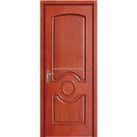 Wood door made from solid wood, MDF and veneer LBD-606