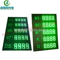 green 8inch IP65 LED gas price digital display