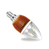 high quality,5W crystal LED Chandelier bulbs, LED candle bulbs with good quality LED chips