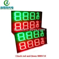 hot sale 12inch red gree 8889/10 IP65 led number sign