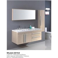 plywood bathroom cabinet with basin