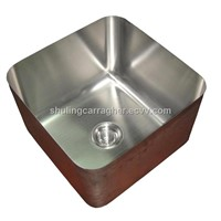 stainless steel sink without collar