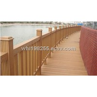 wood plastic composite fencing and handrails