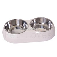 Double Dinner Dog Bowl