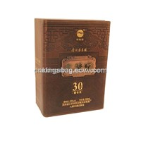 2012 New Design Single Bottle Leather Wine Box
