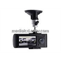 2.7inch Dual Lens Car DVR with G-Sensor & SOS Emergency Button