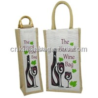 Custom Made Fashion Jute Wine Bag