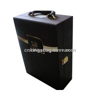 Gift Wine Packing,Leather Wine Box, Leather Wine Packaing