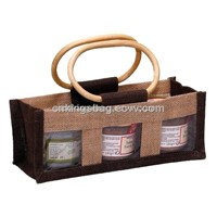 Jute Carrier Bag for Food, Eco Jute Bag for Cans & Food (Jute Bag)