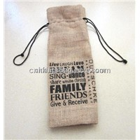 Jute Wine Bottle Bag, Eco Friendly Wine Gift Bag