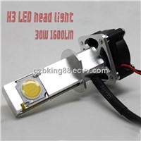 New 12-24V 30watts H1/H3 1600LM car LED headlight