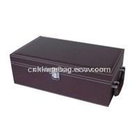 Single Leather Hand-Held Wine Box