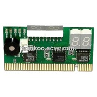 Two Observed Directions - Top Viewed PCI 2 Bit Diagnostic Card for Desktop