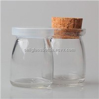 100ml Glass Pudding Bottle With Cap or Cork