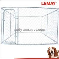 10*10*6 foot galvanized chain link pet cages