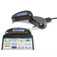 2013 Wireless LCD FM Transmitter for iPhone5 4S 3.5mm Jack for iPod/ iPad/ Smart Phone/ HTC /Samsung