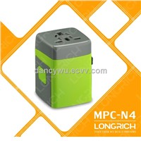 2014 LONGRICH Hot Sale Travel Adapter With CE,ROHS Approved for Promotion Gifts (MPC-N4)
