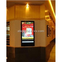 32 inch lcd monitor with toughened glass,supermarket multimedia lcd player for advertising