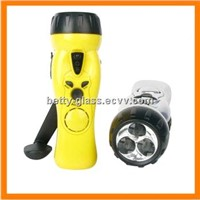 3pcs LED Cranking Flashlight with Radio