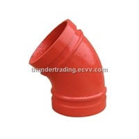 45 Degree Elbow for Fire Pipe,Pipe Fitting,Groove Fitting