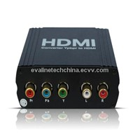 5RCA RGB YPbPr Component Video to HDMI Converter Box 720P 1080P Upscaler Adapter