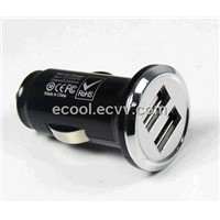 5V2100mah CE ROHS FCC  double port car charger