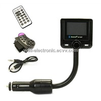Bluetooth Car Kit MP3 Player FM Transmitter Modulator Remote Control USB/SD/MMC Support