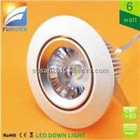 CE RoHS SAA dimmable 6w LED Downlight