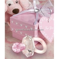 Choice Crystal Pink Pacifier Favors of baby shower wedding favors giveaway accessories