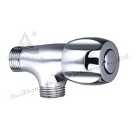 Chrome plated brass angle valve with zinc handle