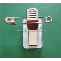 Croco Clip with Safety Pin and Adhesive Pad