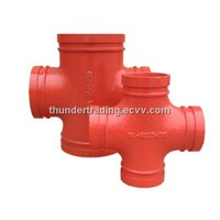 Cross for Fire Pipe,Pipe Fittings,Groove Groove