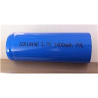 Cylindrical Li-ion Batteries (ICR18490 1400mAh 3.7V)