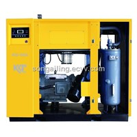Direct driven screw air compressor with oil lubricated(ISO9001)
