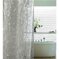 EVA 3D shower curtain, PEVA double swag eva shower curtain