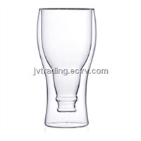 Fashion Double Wall Glass--Inversion beer bottle shape
