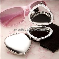 Heart Shaped Compact Mirror Favors wedding favors birthday party gifts accessories supplies