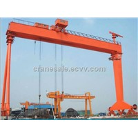 Heavy Type 2x75T+100T Double Trolley Shipbuilding Door Crane For Dock Yard