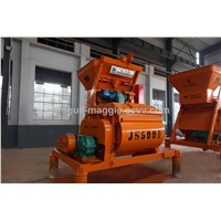 High qualityJS500 twin-shaft concrete mixer