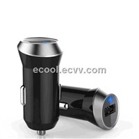 Hot!!! New Arrival Cell Phone Car Charger 5V2.4A alloy material