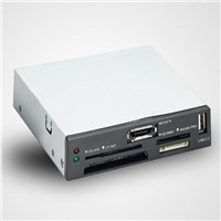 Internal usb hub and card reader 3.5 inches with plastic cover