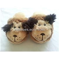 Kids Plush Slippers with Animal Dog Styles